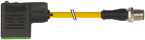 M8 St. ger.3pol. auf MSUD Ventilst. BF A 18mm
