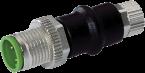 Adapter M12 St. / M8 Bu. 4p., Belegung 1,2,3,4
