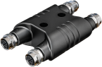 H coupler M12 male L-coded/ 3x M12 female L-coded