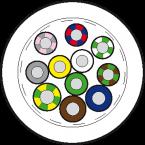 50m Vert.Ltg. PUR-JB 8x0,34+3x0,75