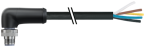 M12 Power L-kod. 5pol. St. 90° freies Ltg.-ende