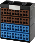 Potenzialklemmenblock braun blau