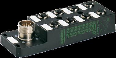 M12-Verteiler 8-f., 5-pol. ohne LEDs, CNOMO