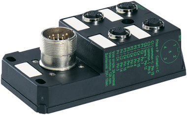 M12 DISTRIBUTOR BOX 4-WAY, 5-POLE, NO LED