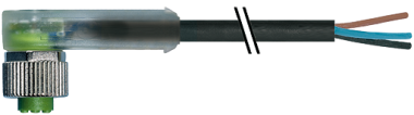 M12 Bu. 90° freies Ltg.-ende Verpolschutz
