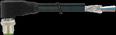 M12 St. gew. geschirmt mit freiem Ltg.-ende