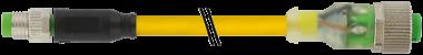 M8 male 0° / M12 female 0° LED