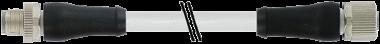 M12 Power L-kod. 5pol. St. 0° / Bu. 0°