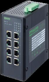 8 Port Unmanaged Gigabit Switch 8 PoE Ports IP20 Metall