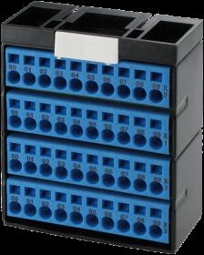 Cube20 Potenzialklemmenblock 4 x blau
