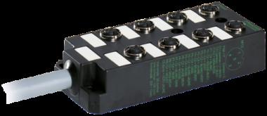 M12-Verteiler 8-f.,5-pol.,ohne LEDs