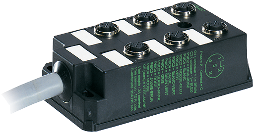 M12-Verteiler 6-f.,5-pol.,ohne LEDs