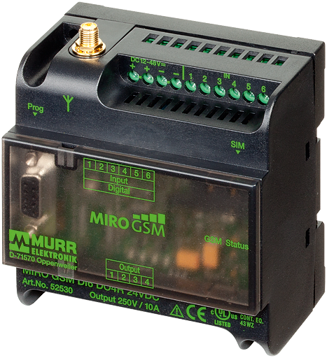 MIRO GSM DI6 DO4R 24VDC