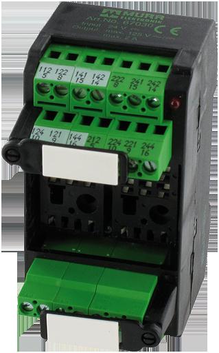 MKS-K24M/LED24 VDC RELAY SOCKET MODULES