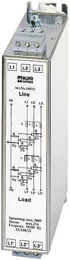 MEF Netzentstörfilter 3-phasig 2-stufig