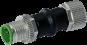 Adapter M12 St. 5p. / M12 Bu. 6p. gesch. Cube 67