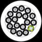 50M MAIN CABLE PUR/PVC-JZ 18X0,75