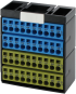Potenzialklemmenblock blau gelb