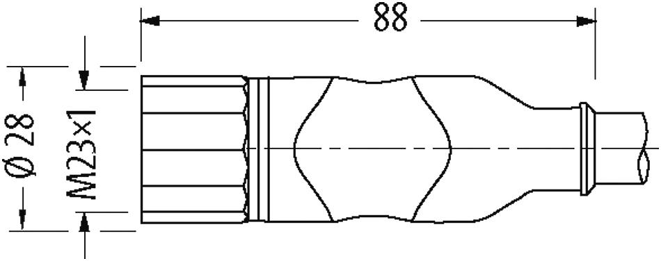 M23 Buchse 19-polig, gerade, mit freiem Ende im Murrelektronik ...